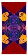 Balancing Affections Abstract Bliss Art By Omashte Bath Towel