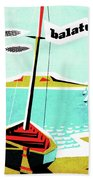 Balaton Lake, Hungary, Fishing Boat On The Coast Hand Towel