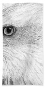 Bald Eagle Profile Bath Towel