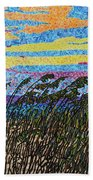 Bald Head Island, Sea Oat Sunset Bath Towel