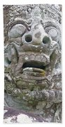 Balinese Temple Guardian Bath Towel