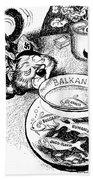 Balkan Cartoon, 1939 Bath Towel