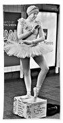 Ballerina B W Bath Towel