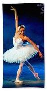 Ballerina On Stage L A Nv Bath Towel
