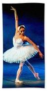 Ballerina On Stage L B Bath Towel