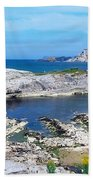 Ballintoy Harbour, Co Antrim, Ireland Bath Towel