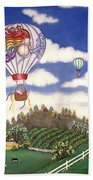 Ballooning Over The Country Bath Towel