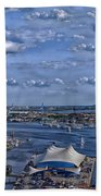 Baltimore Maryland Inner Harbor Bath Towel