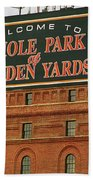 Baltimore Orioles Park At Camden Yards Hand Towel