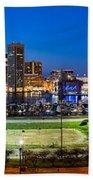 Baltimore Skyline Panorama At Dusk Bath Towel
