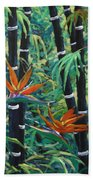 Bamboo And Birds Of Paradise Bath Towel