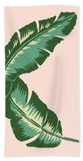 Banana Leaf Square Print Hand Towel by Lauren Amelia Hughes