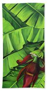 Banana Tree Flower Bath Towel