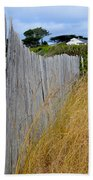 Bandon Beach Fence Bath Towel