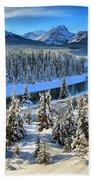 Banff Bow River Valley Bath Towel