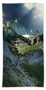 Mount Cory, Banff Bath Towel