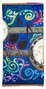 Banjos - Bordered Bath Towel