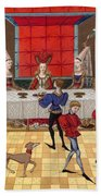 Banquet, 15th Century Hand Towel