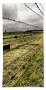 Barbed Wire Fence Bath Towel
