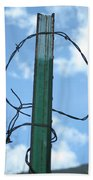 Barbed Wire Sky Bath Towel