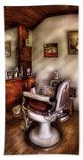 Barber - In The Barber Shop  Bath Towel