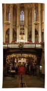 Barcelona Cathedral High Altar And St Eulalia Crypt Bath Towel