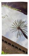 Barcelona Courtyard With Palm Tree Bath Towel