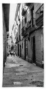 Barcelona Small Streets Bw Bath Towel