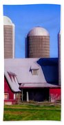 Barn And Silos Hawaiian Chapel Effect Bath Towel