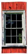 Barn Window Closeup At Old World Wisconsin Bath Towel