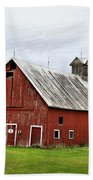 Barn With A Cross Bath Towel