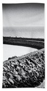 Barry Island Breakwater Film Noir Bath Towel
