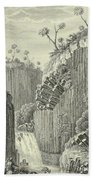 Basalt Rocks And The Cascade De Regla, Bath Towel