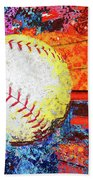 Baseball Art Version 6 Bath Towel