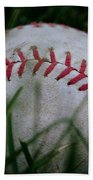 Baseball Hand Towel by Diane Reed
