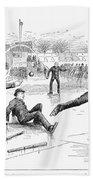 Baseball On Ice, 1884 Bath Towel