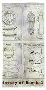 Baseball Patent History Hand Towel