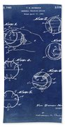 Baseball Training Device Patent 1961 Blue Bath Towel