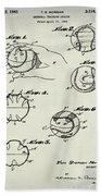 Baseball Training Device Patent 1961 Weathered Bath Towel