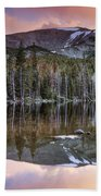 Basin Lake Sunset Bath Towel