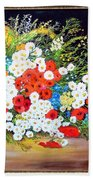 Basket With Summer Flowers Hand Towel