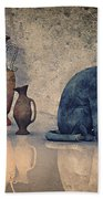 Bastet And Pottery Bath Towel