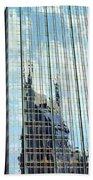 Bat Tower Reflected Bath Towel
