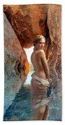 Bathing Maiden Bath Towel