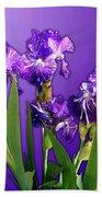 Batik Irises Bath Sheet
