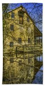 Batsto Gristmill Reflection Bath Towel