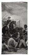Battle At Princeton New Jersey Usa 1775 Bath Towel