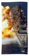 Battleship Uss Iowa Firing Its Mark 7 Bath Towel