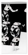 Bauhaus Ballet 2 The Cubist Harlequin Hand Towel