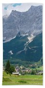 Bavarian Alps Landscape Bath Towel